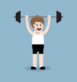 barbell shoulder press exercise vector image