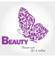 Butterfly wing logo vector image