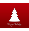 Simple red christmas card vector image