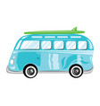 a cartoon bus transport vector image vector image