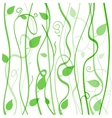 abstract background of branches and leaves with vector image vector image