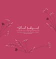 background from silhouettes of flowers vector image vector image