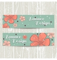 Banners With Orange Flowers vector image vector image