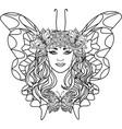 beautiful woman butterfly vector image