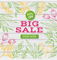 big sale banner template discount flyer vector image