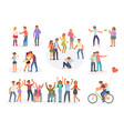 big set of teenagers in different situations vector image