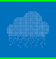 binary cloud concept vector image vector image