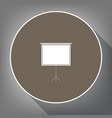 blank projection screen white icon on vector image vector image