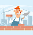 bricklayer at a construction site vector image