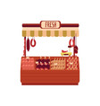 butchers shop or street marketplace with meat flat vector image