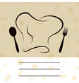 cap of the cook with a plug and a spoon a vector i vector image