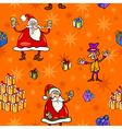 christmas cartoon seamless pattern paper vector image vector image