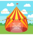 Circus Tent Invitation Card vector image vector image