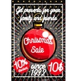 Color vintage Christmas sale poster vector image vector image