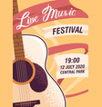 colorful promo poster live music festival vector image vector image
