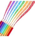 colour pencils isolated eps 10 vector image