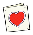 comic cartoon love heart card vector image