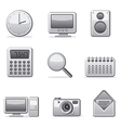 computer applications icon set vector image vector image