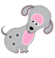 cute cartoon isolated fabric animal dog vector image vector image