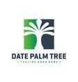 date palm logo design vector image vector image