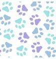 dog paw background vector image vector image