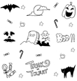 Doodle halloween collection vector image vector image