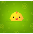Easter Banner With Chicken vector image vector image