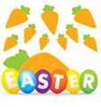 easter day with carrot vector image