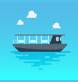 ferry boat in flat style vector image