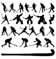 Field hocky players vector image vector image