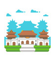 flat design jingan temple shanghai vector image vector image