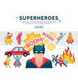 flat superheroes elements set vector image