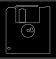 floppy disk the white path icon vector image