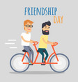 friends celebrating friendship day concept vector image