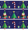 Geometric xmas pattern with elf vector image vector image