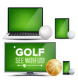 golf application field golf ball online vector image