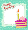 Happy birthday cake card vector image vector image
