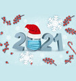 happy chistmas and new year background and 2021 vector image vector image