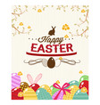 Happy holiday easter day card vintage egg