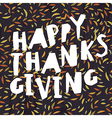 Happy Thanksgiving greeting card Abstract autumn vector image vector image