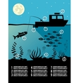 Infographic fishing poster vector image