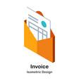 invoice isometric vector image vector image
