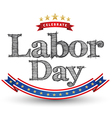 labor day tag vector image vector image