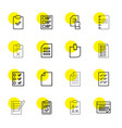 list icons vector image vector image