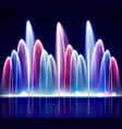 lit night colorful fountain realistic vector image vector image