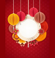 lunar new year design background happy pig year vector image vector image