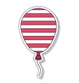 patriotic balloon air isolated icon design vector image vector image
