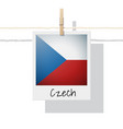 photo of czech flag vector image vector image