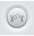 Project Management Icon Grey Button Design vector image vector image