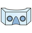 reality virtual mask technology vector image